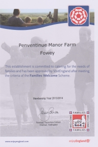 Families Welcome to Penventinue Manor Farm