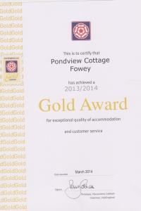 Pond View Cottage - Gold Award