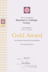 Blackberry Cottage - Gold Award