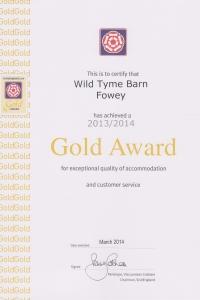 Wild Thyme Barn - Gold Award