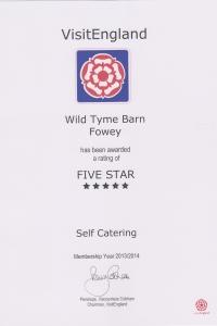 Wild Thyme Barn - 5 Stars
