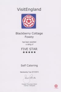 Blackberry Cottage - 5 Stars
