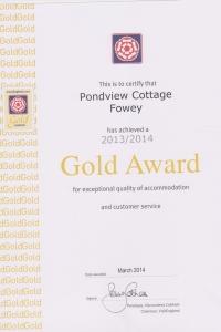 Pond View Cottage - Gold Award